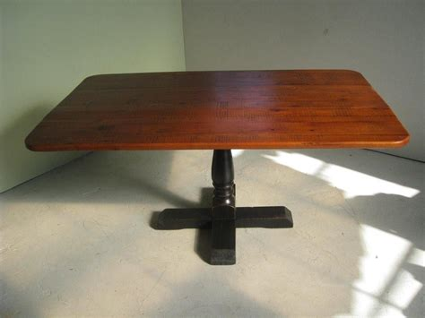 Square Pedestal Dining Table Custom Square Pedestal Base Dining Table With Drop Leaf Sides By Ecustomfinishes Reclaimed