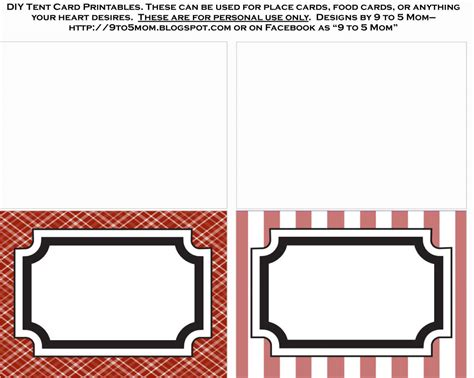 Food Label Tent Cards Template by 10 Best Images Of Blank Label Templates Free Printable