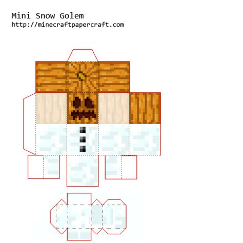 Minecraft Papercraft Snow - papercraft mini mutant snow golem fixed