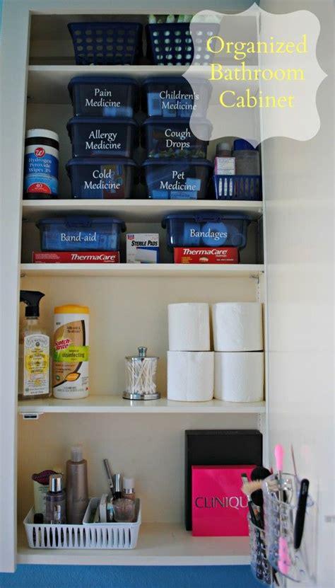 organizing medicines  aid supplies makeup