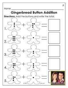 gingerbread math worksheets kindergarten gingerbread on