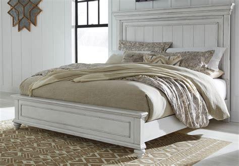 kanwyn whitewash king panel bed cincinnati overstock warehouse
