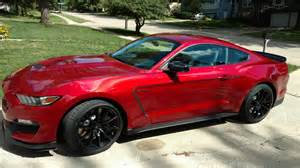66 Mustang Black New 2017 Ruby Red Gt350 In The House Arrival Forum Team Shelby
