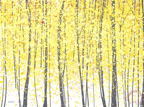 jerome trees at twilight gold painting trees at twilight gold print for sale