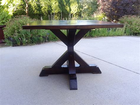 Ana White X Base Pedestal Table Diy Projects Diy Dining Table Base