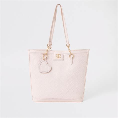 girls pink ri monogram shopper bag shopper bags bags