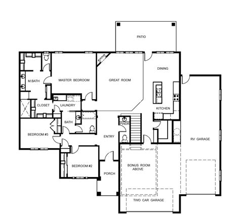 garage homes floor plans house plan garage with bonus room above sensational