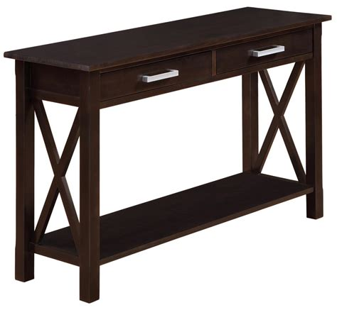 amazon com simpli home artisan console sofa table medium amazon com simpli home kitchener console table dark