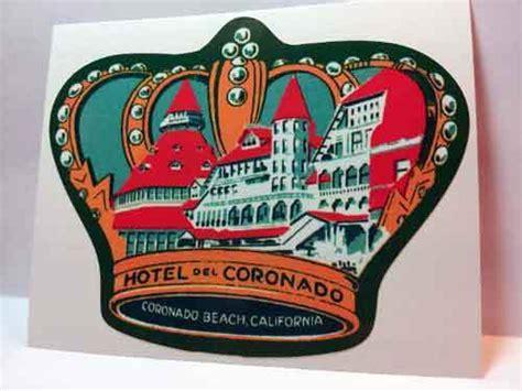 hotel del coronado vintage style travel decal vinyl