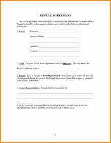 free simple lease agreement template 6 simple rental agreement form model resumed