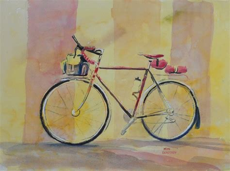 painting bike august 187 2012 187 watercolors by mimi torchia boothby