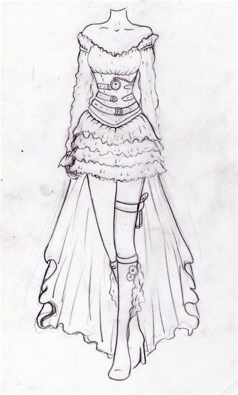 Sketches Clothes by Suit Fashion Drawing Pencil And In Color