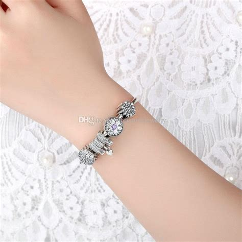 925 Sterling Silver Beaded Bangle genuine 925 sterling silver beaded bangle charm bracelets