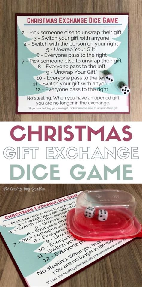 christmas gift exchange large groups gift exchange dice with free printable