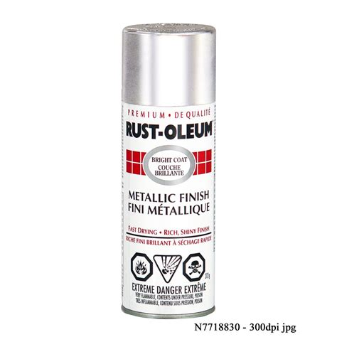 rust oleum bright coat 312g metallic gloss spray paint lowe s canada