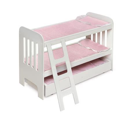 ag doll beds badger basket trundle doll bunk beds with ladder fits
