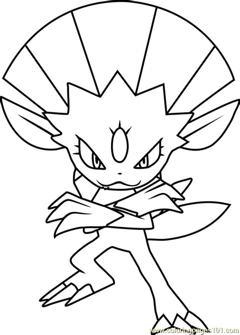 weavile pokemon coloring page  pokemon coloring