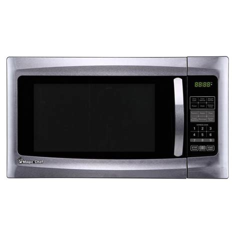 magic chef 1 6 cu ft 1100 watt countertop microwave oven