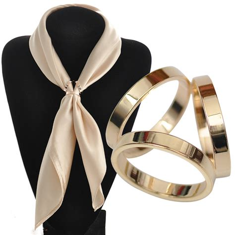 Pasmina Crepe Ring Ranting bs044 silk scarf jewelry accessories buckle shawl ring clip tricyclic scarves buckle luxurious