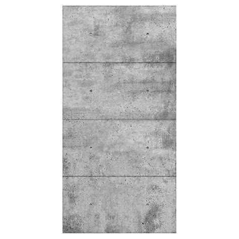 Cottage Building concrete look wall panel 48 quot x 96 quot grey rona