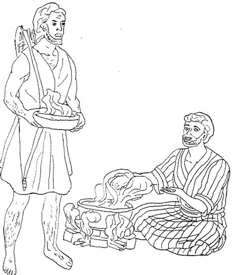 coloring page jacob and esau jacob and esau printable coloring pages