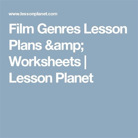 lesson plan on biography genre 34 best movie genre unit images on pinterest high school