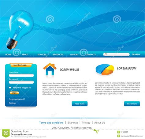 website templates for online business business website templates stock vector image of design