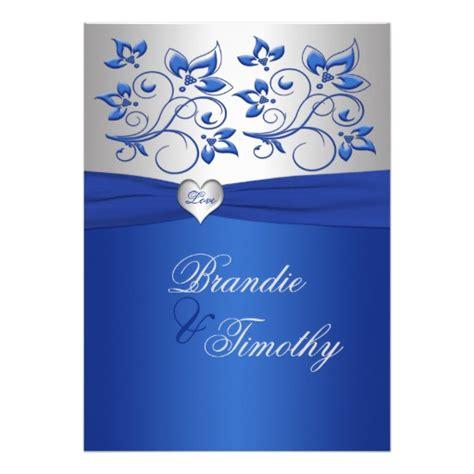 wedding invitations royal blue and silver royal blue and silver wedding invitation zazzle
