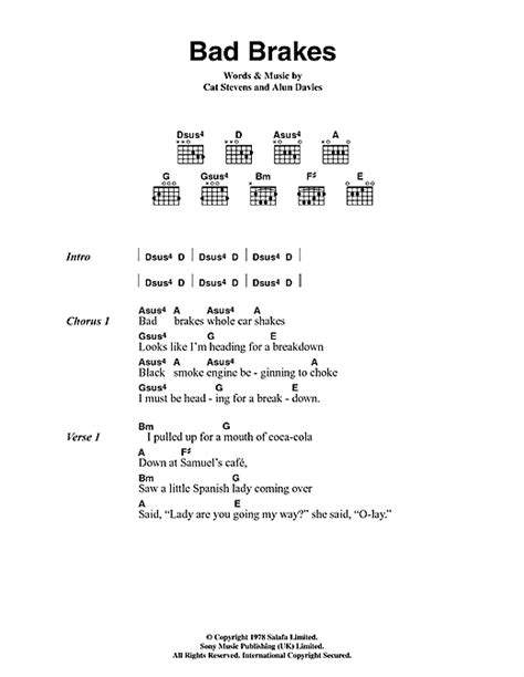 Smelly Cat Chords