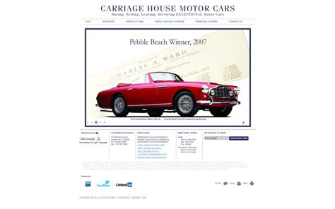motor house cars carriage house motor cars collector car websites