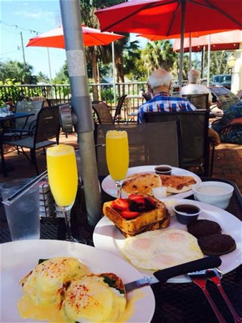 Brunch Patio by Eggs Benedict Stuffed Toast And Mimosas Awesome