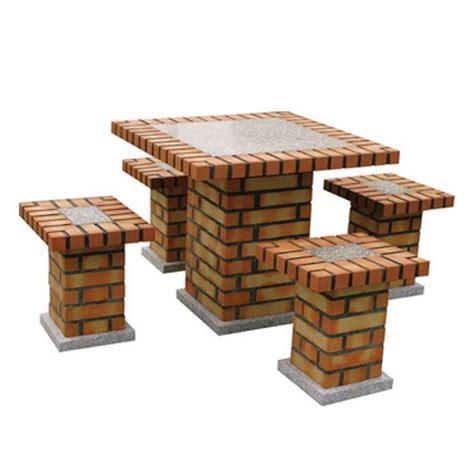 brick garden table   benches pizza ovens outdoor bbq