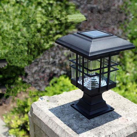 Patio Pillar Lights New Arrival Solar Pillar L Outdoor Bright Led Solar Pillar Gate L Solar Pillar Light Jpg