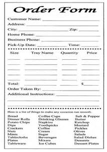 catalog order form template cake order form templates free bakery order form