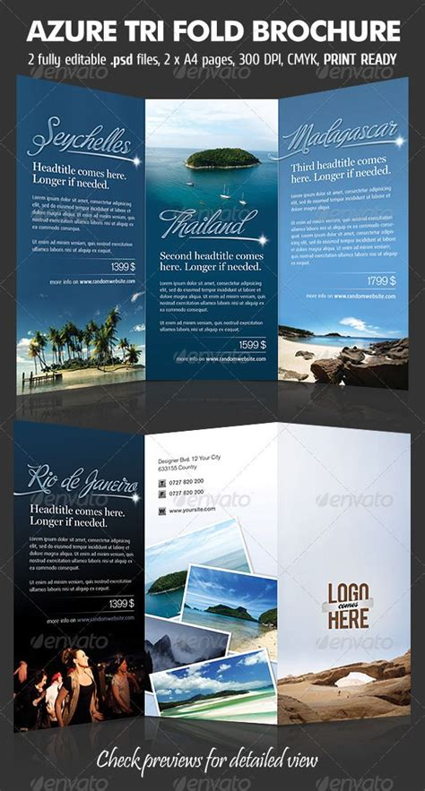 tri fold travel brochure template free 48 best images about trifold on behance tri