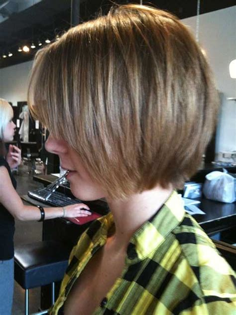 unique chin length layered bob short hairstyles