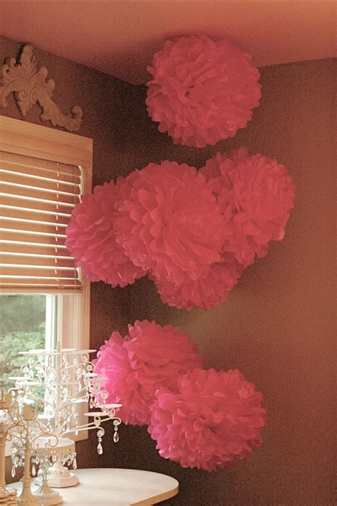 How To Make Small Paper Pom Poms - 35 tissue paper pom poms guide patterns