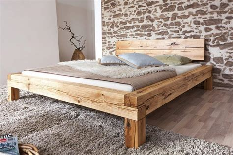 Bett Real by Bett Doppelbett Balkenbett Wildeiche Massiv Real