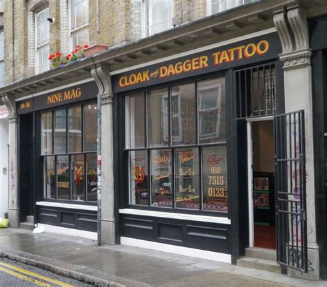 tattoo parlour london walk in cloak and dagger tattoo parlour shop front on 34 cheshire