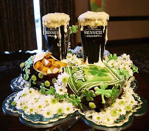 st s day themed wedding bachelor guinness and celtic wedding