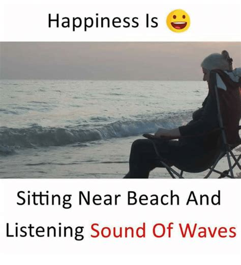Happiness Is Meme - happiness is sitting near beach and listening sound of