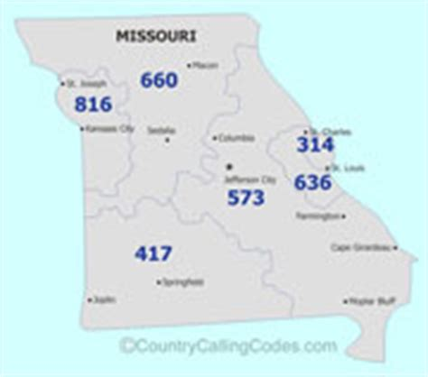 map missouri area codes missouri united states area code and missouri united
