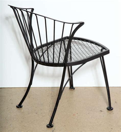woodard wrought iron outdoor furniture set of 4 woodard wrought iron chairs at 1stdibs