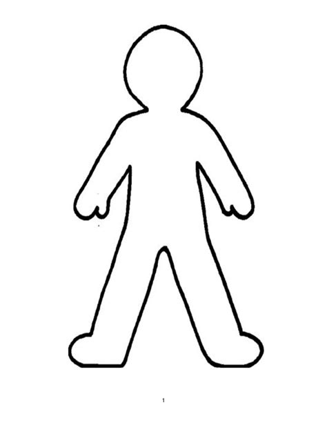 Blank Person Stencil Clipart Best Human Printable