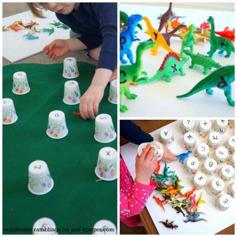 dinosaur alphabet matching activity