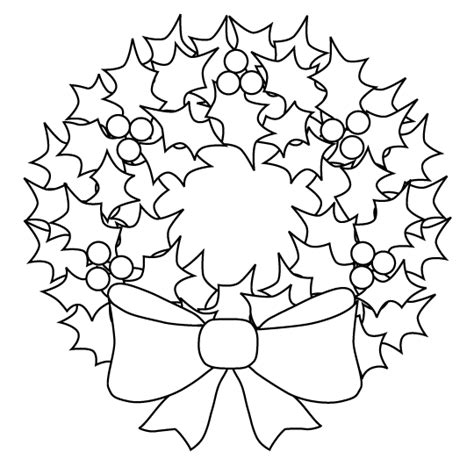 wreath bow coloring page christmas wreath pictures page