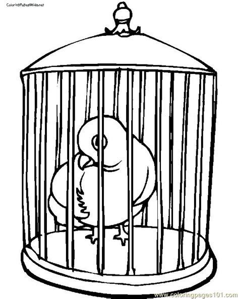 coloring pages of bird cages parrot in cage coloring page free parrots coloring pages