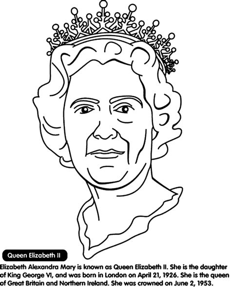 Queen Elizabeth Ii Coloring Coloring Pages Elizabeth