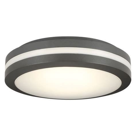 Outside Ceiling Light Lithonia Lighting Bronze Outdoor Integrated Led Decorative Flush Mount Olcfm 15 Dbb M4 The