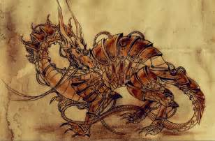 angelinell steampunk dragon mechanical steampunk